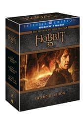 Hobit - Kompletní kolekce 1.-3., prodloužené verze 2D+3D verze (15BD) - Blu-ray