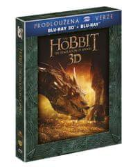 Hobit: Šmakova dračí poušť - prodloužená verze 3D+2D (5 disků) - Blu-ray