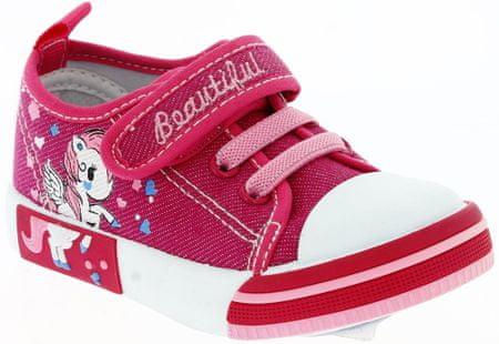 V+J lány sportcipő egyszarvúval 21 rózsaszín