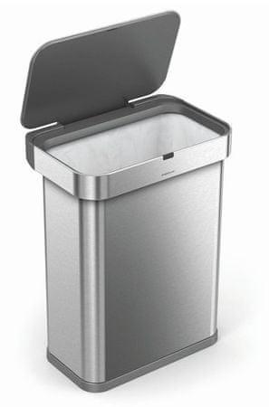 Simplehuman Bezdotykowy pojemnik na odpady z czujnikiem głosu i ruchu, 58 l