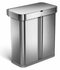 Simplehuman Érintésmentes hulladékgyűjtő tartály hang- és mozgásérzékelővel, 58 l