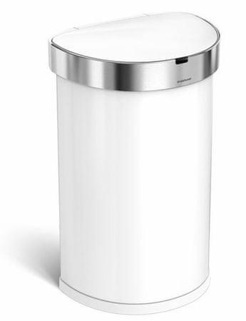 Simplehuman beskontaktni koš za otpad, 45 L, bijeli