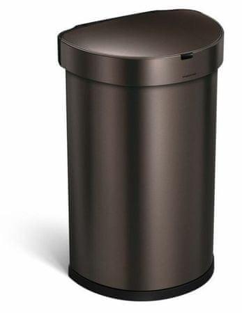 Simplehuman Kosz na odpady na pedały 45 l, CIEMNY BRĄZ