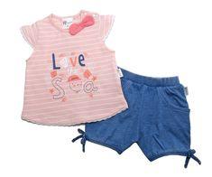 Gelati dievčenská súprava trička a šortiek Ocean