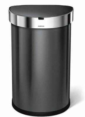 Bezdotykový odpadkový koš 45 l, černá ocel Simplehuman