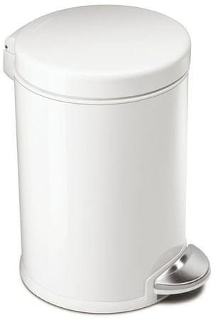 Simplehuman koš za odpadke, 4,5 L, bel