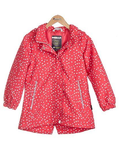 Nickel sportswear dívčí nepromokavá bunda 104 červená