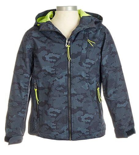 Nickel sportswear chlapecká softshellová nepromokavá bunda 98 modrá