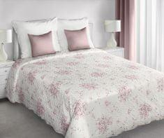 My Best Home narzuta na pościel JENIFER różowe kwiaty, 220 x 240 cm