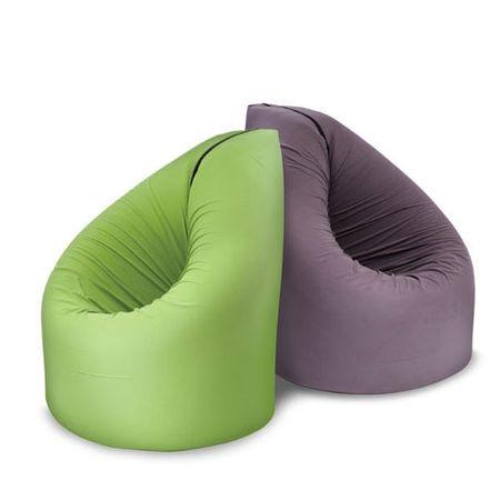 Vreča za sedenje in igralna podloga 2v1 Bean, zelena