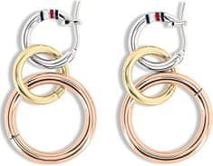 Tommy Hilfiger Luxusos tricolor fülbevalóTH2701090