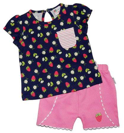 Gelati dívčí set trička a kraťasů Fruits 68 čierna/ružová