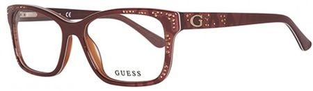 Guess oprawki do okularów damskich, brązowe