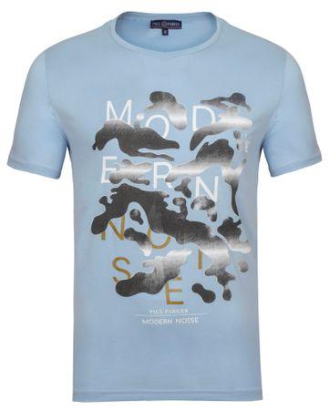 Paul Parker pánske tričko M svetlomodrá