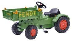 BIG Pedálos traktor Fendt billenthető utánfutóval