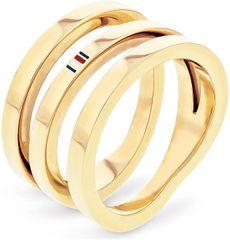 Tommy Hilfiger Aranyozott acélgyűrű TH2701100