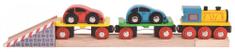Bigjigs Rail Drevené vláčikodráhy Nákladný vlak s autami a koľajami