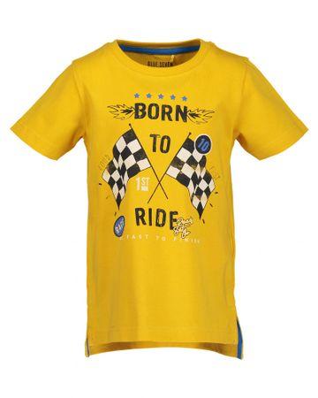 Blue Seven fiú póló mintával 92 sárga