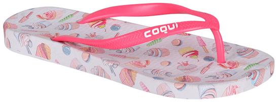 Coqui Dámske žabky Kaja Printed Cupcake Pink 1327-213-3242 (Veľkosť 36)