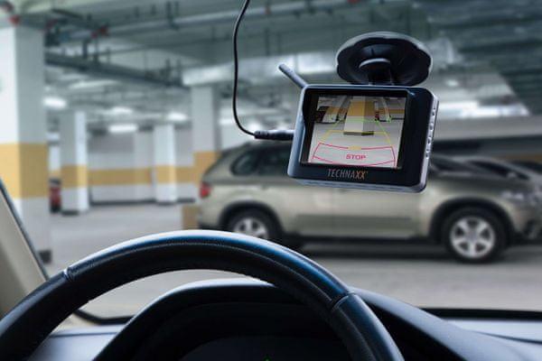 bezdrátový parkovací kamerový systém technaxx tx-110 snadné parkování couvání zvýší bezpečnost