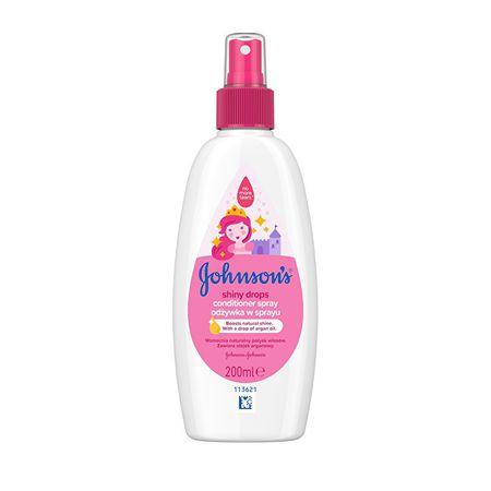 Johnson's Baby Baby oblítést nem igénylő kondicionáló spray (Shiny Drops) 200 ml
