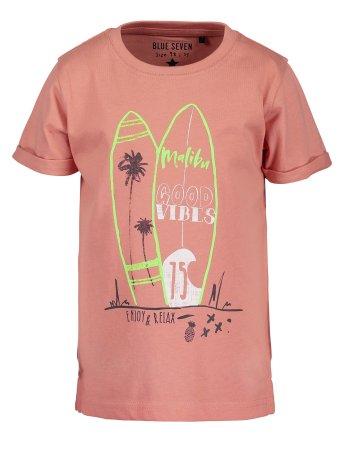 Blue Seven koszulka chłopięca z nadrukiem 92 pomarańczowy