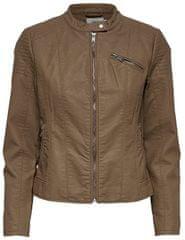 ONLY Dámska bunda Flora Faux Leather Jacket Cc Otw Cognac