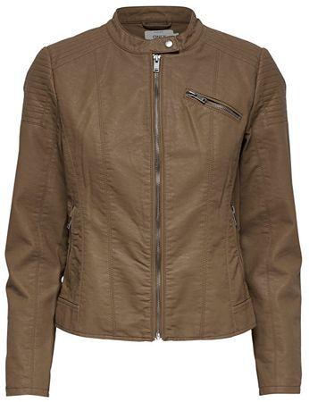 ONLY Női kabát Flora Faux Leather Jack és Cc Otw konyak (méret 40)
