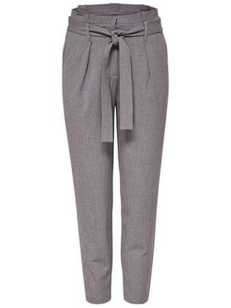 ONLY Női nadrágOnlnicole Paperbag Ankle Pants Wvn Noos Light Grey Melange (méret 36/30)