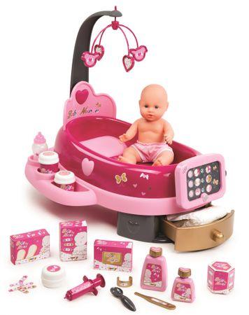 Smoby posteljica in previjalna miza Baby nurse