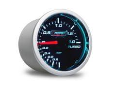 Prosport Performance přídavný ukazatel tlaku turba -1 až 2 bar s kouřovým překrytím
