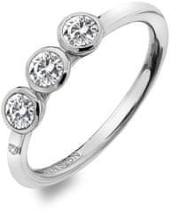 Hot Diamonds Luxus ezüst gyűrű topázzal és gyémánt Willow DR205-tel ezüst 925/1000