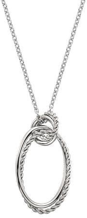 Hot Diamonds Srebrna ogrlica s pravim diamantom Jasmine DP737 srebro 925/1000