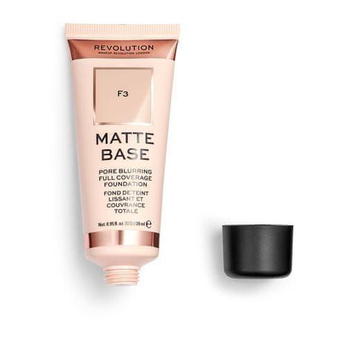 Makeup Revolution Plne krycie a zmatňujúci make-up (Matte Base Foundation) 28 ml (Odtieň F8)
