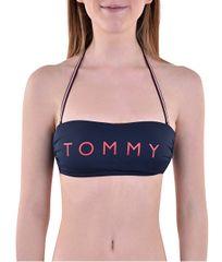 Tommy Hilfiger Női fürdőruha felsőBandeau RP Logo Navy Blazer UW0UW01438-416
