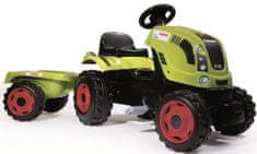 Smoby Pedálos traktor Class Xl zöld utánfutóval