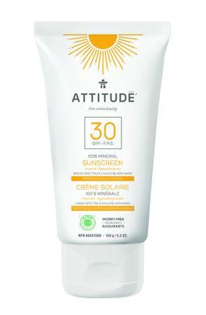 Attitude 100% minerální opalovací krém (SPF 30 ) s vůní Tropical 150 g