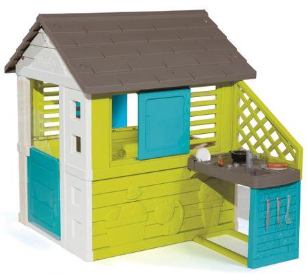 Smoby otroška vrtna hiša s kuhinjo Pretty