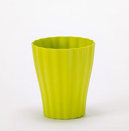 Plastia vaza Ola, 16 cm, zelena