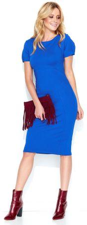 Makadamia dámske šaty 36 modrá