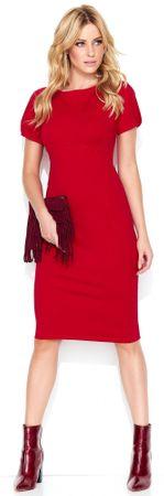 Makadamia dámske šaty 44 červená