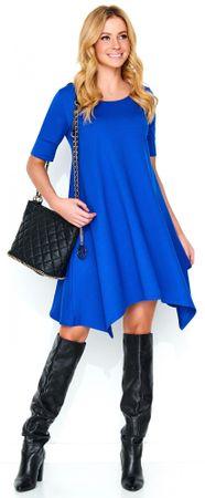 Makadamia dámske šaty 42 modrá