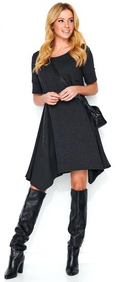 Makadamia dámske šaty 40 sivá