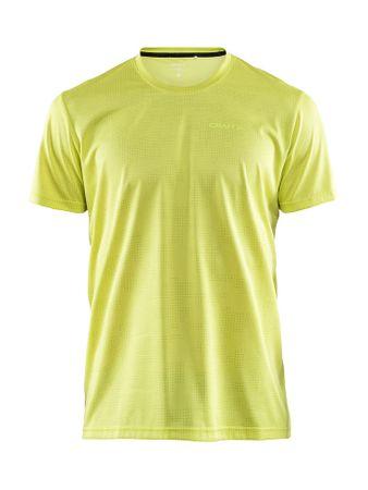 Craft moška majica Eaze SS Tee M P Camo Lime, S, rumena