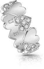 Guess Romantični obroč za šopek v obliki srca UBR85024