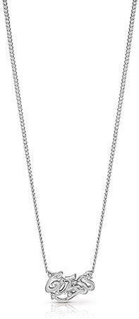 Guess Slušivý náhrdelník s nápisem a krystaly UBN85085