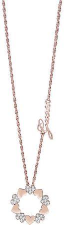 Guess Romantický náhrdelník Heart Bouquet UBN85047