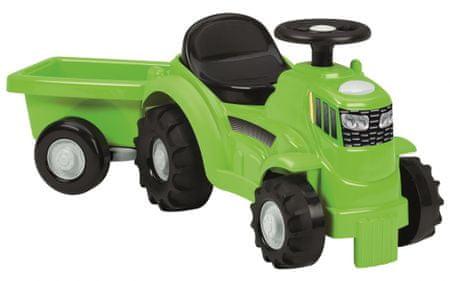 ECOIFFIER Lábbal hajtós Traktor zöld pótkocsival