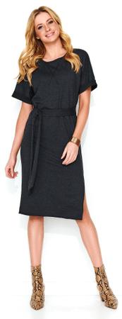 Makadamia dámske šaty 42 sivá