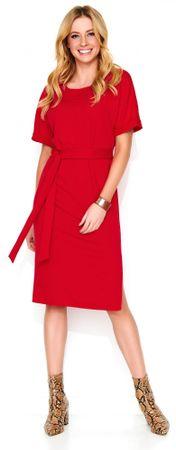 Makadamia dámské šaty 42 červená